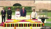 Le président américain Donald Trump et Melania Trump rendent hommage à Rajgha
