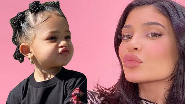 Stormi Trying To Look Like Mommy Kylie