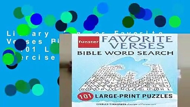 Library  Funster Favorite Verses Bible Word Search - 101 Large-Print Puzzles: Exercise Your Brain,