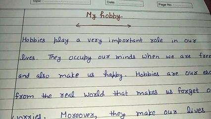 My hobby essay writing in English