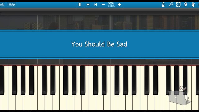You Should Be Sad-Halsey (Piano Tutorial Synthesia)