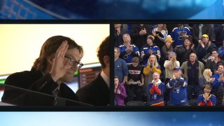 Jay Bouwmeester receives ovation in St. Louis