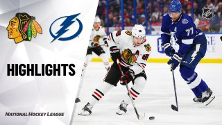 NHL Highlights | Blackhawks @ Lightning 2/27/20