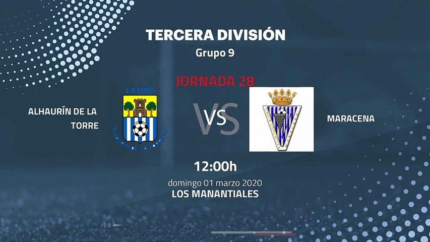 Previa partido entre Alhaurín De La Torre y Maracena Jornada 28 Tercera División