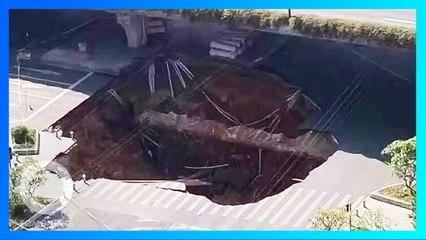 道路陥没で3人行方不明 地下で地下鉄工事- トモニュース