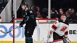 Logan Couture buries one-timer for OT winner
