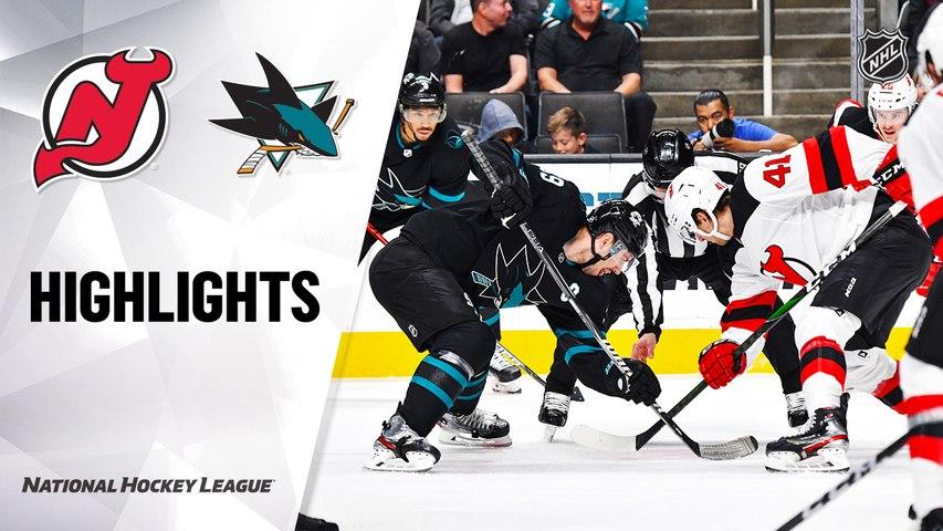 NHL Highlights | Devils @ Sharks 2/27/20
