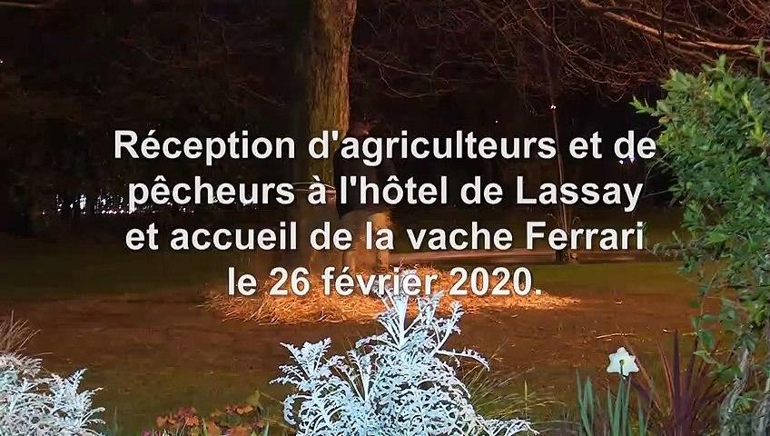 Réception des éleveurs et des agriculteurs dans le cadre du Salon International de l'Agriculture 2020 - Mercredi 26 février 2020