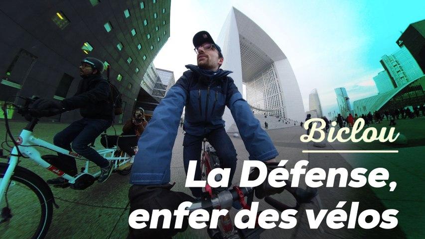 La Défense à vélo, c'est pas gagné...
