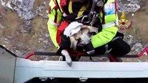 Lecco - Donna e il suo cane salvati sul Monte Moregallo (28.02.20)