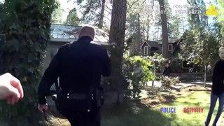 Ce policier sauve un homme d'une maison en feu !