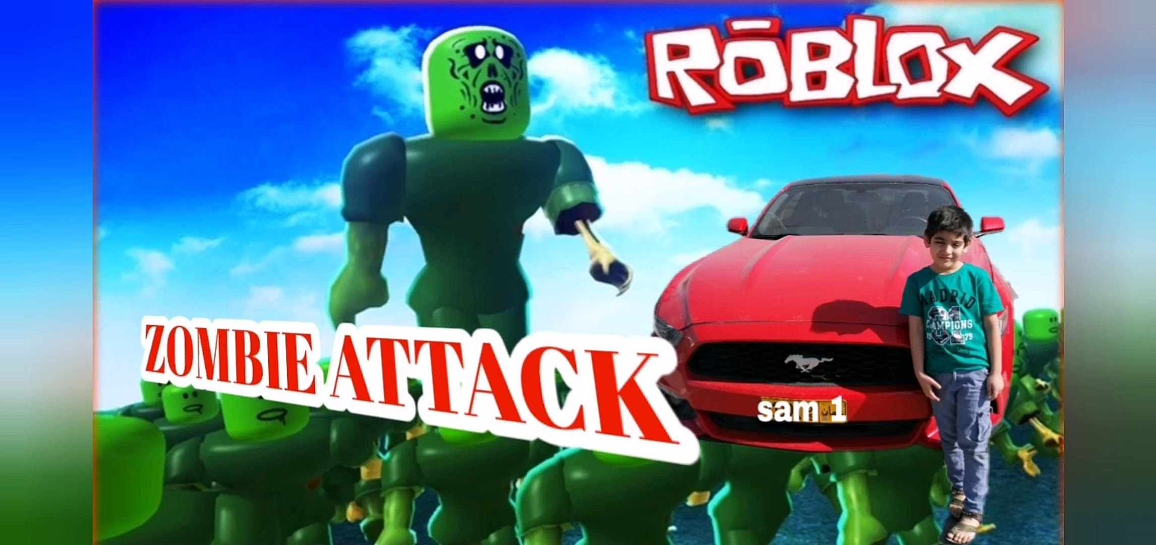 Roblox Zombie Attack Fr Zombie Attack 2 And Gun Fire Every Where In Roblox By Sam Sobsamgames Video Dailymotion