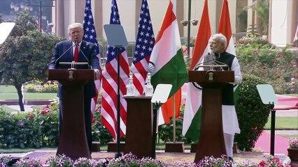PM Narendra Modi and US President Donald Trump at Joint Press Meet P2