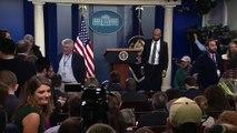 Us President Donald Trump news conference on Coronavirus with CDC P1