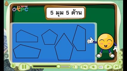 สื่อการเรียนการสอน รูปเรขาคณิต 2 มิติป.3คณิตศาสตร์