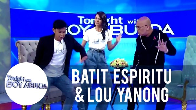 "Batit and Lou delight the audience as they sample a scene from ""Tabing Ilog The Musical"" 