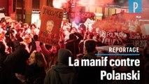 Césars : une centaine de personnes manifestent devant la salle Pleyel