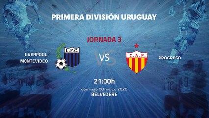 Previa partido entre Liverpool Montevideo y Progreso Jornada 3 Apertura Uruguay