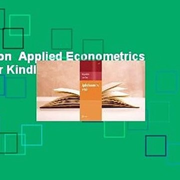 Full version  Applied Econometrics with R  For Kindle