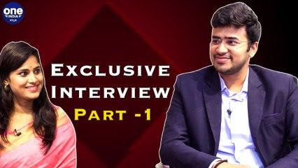 Tejasvi Surya, Oneindia Exclusive Interview Part - 1   Oneindia Kannada