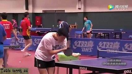 Ma Long & Zhang Jike Training Serve