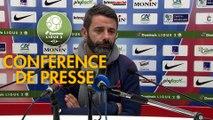 Conférence de presse Châteauroux - Havre AC (0-3) : Nicolas USAI (LBC) - Paul LE GUEN (HAC) - 2019/2020