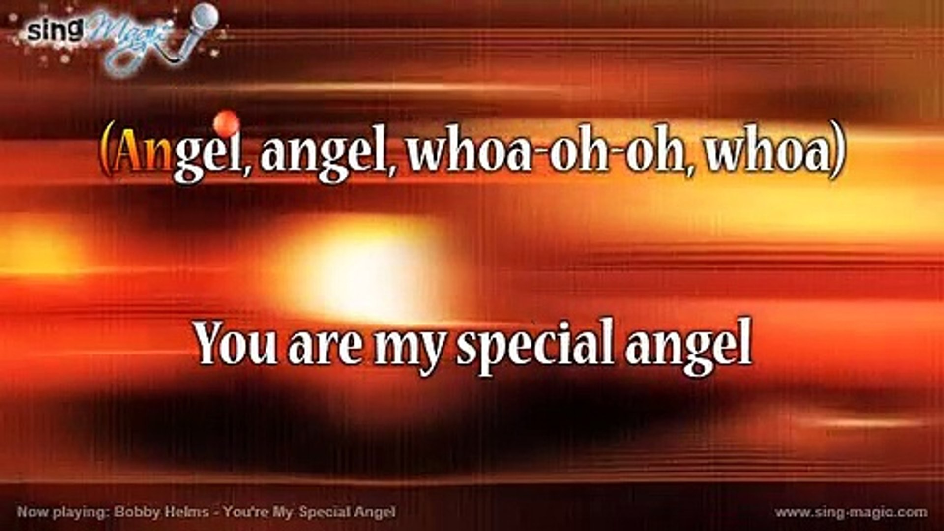 Bobby Helms - You're My Special Angel Karaoke Version Instrumental