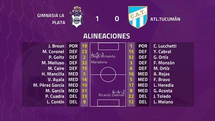 Resumen partido entre Gimnasia La Plata y Atl.Tucumán Jornada 22 Superliga Argentina
