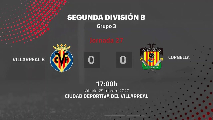 Resumen partido entre Villarreal B y Cornellà Jornada 27 Segunda División B