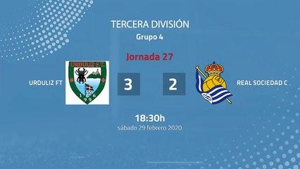 Resumen partido entre Urduliz FT y Real Sociedad C Jornada 27 Tercera División
