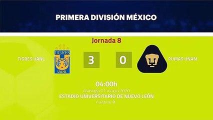 Resumen partido entre Tigres UANL y Pumas UNAM Jornada 8 Liga MX - Clausura