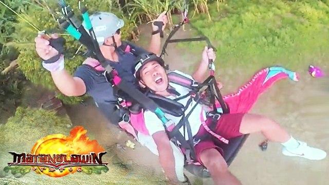Yamyam Gucong takes on Kuya Kim's paragliding challenge   Matanglawin