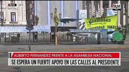 El operativo de apoyo en las calles a Alberto Fernández