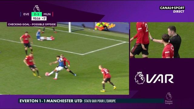 Everton / Manchester United : Le but annulé en toute fin de match