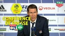 Conférence de presse Olympique Lyonnais - AS Saint-Etienne (2-0) : Rudi GARCIA (OL) - Claude  PUEL (ASSE) / 2019-20