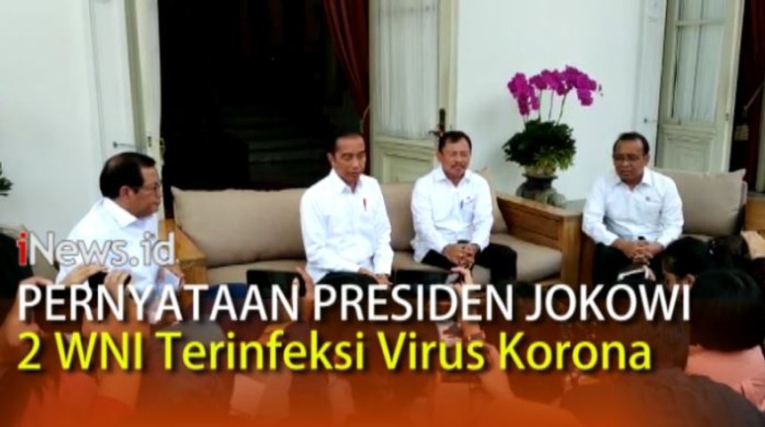 Video Pernyataan Presiden Jokowi 2 WNI Positif Terinfeksi Virus Korona