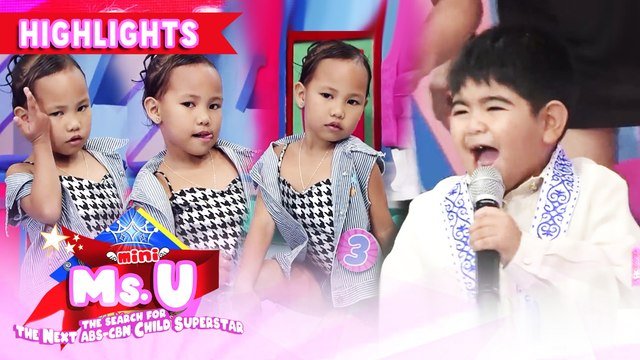 Yorme could not stop singing while Mini Miss U candidate strikes a pose | It's Showtime Mini Miss U