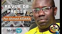 ZikFM - Revue de presse Ahmed AIDARA du Lundi 02 Mars 2020