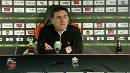 La réaction de Christophe Pelissier après FC Lorient - FC Chambly (1-2) 19-20