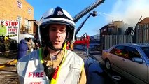 Lancashire Fire Rescue update from the scene in Cowley Road Blackpool