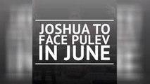BREAKING NEWS - Joshua to fight Pulev in June