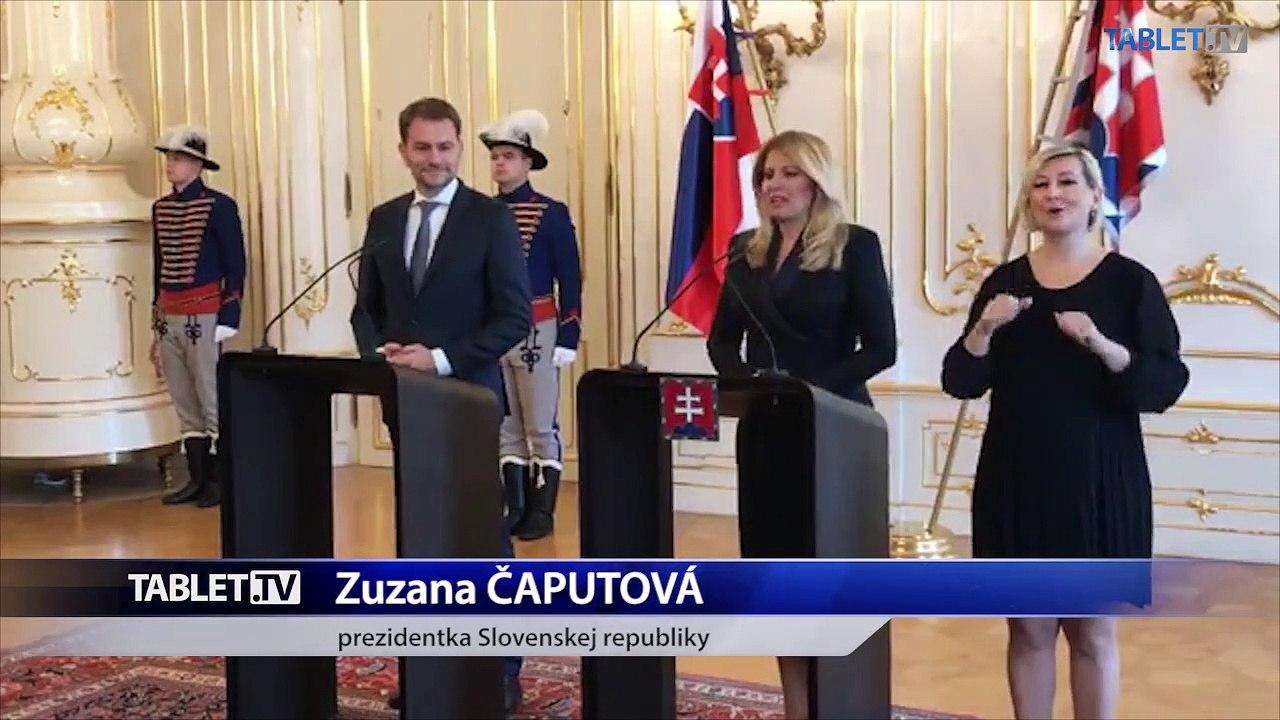 ZÁZNAM: Vyjadrenia prezidentky Z. Čaputovej a I. Matoviča