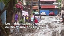 Brésil: des habitants sous le choc après des pluies torrentielles à Rio