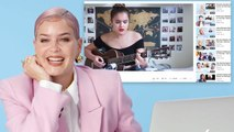 Anne-Marie Watches Fan Covers On YouTube