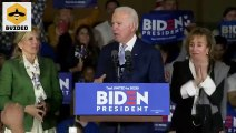 Protesters Interrupt Joe Biden's Super Tuesday Victory Speech