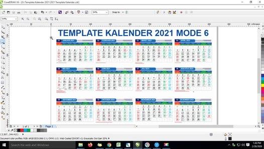 Template Kalender Lengkap 2021 Coreldraw - Video Dailymotion