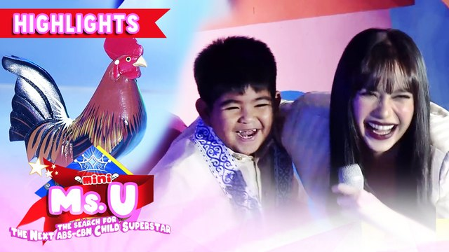 "Yorme interrupts Mini Ms. U candidate's performance of ""Manok na Pula"" 