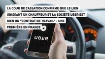 """La Cour de cassation confirme que le lien unissant un chauffeur et la société Uber est bien un """"contrat de travail"""""""