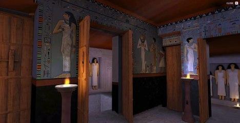 Interior de la tumba de la Reina Hetepheres, la madre de Keops, en Giza.