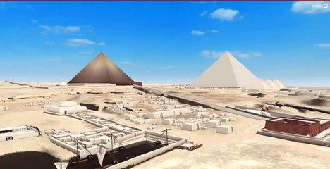 Complejo  funerario de la pirámide de Kefrén en Giza.
